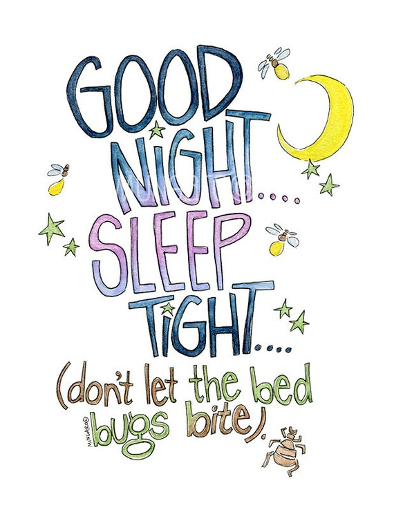 Good Night Sleep Tight Don T Let The Bed Bugs Bite Etsy