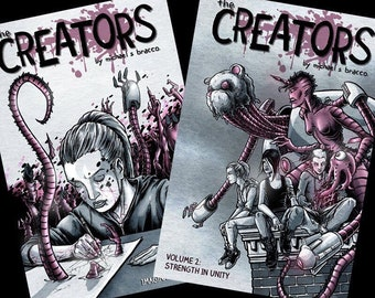 The Creators, Volumes 1 and 2 PACKAGE DEAL - with hand drawn sketches