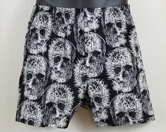 LIMITED EDITION Fractured SKULL cotton boxers