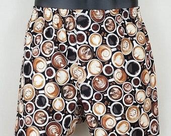 COFFEE cotton boxers - espresso, latte, mocha, macchiato, cappuccino, barista, caffeine