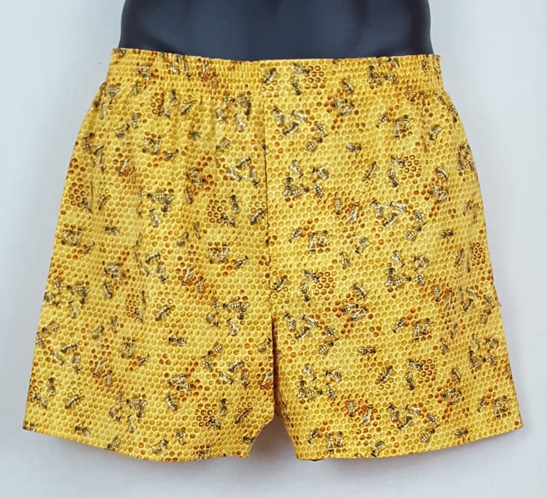 HONEY BEES cotton boxers image 0