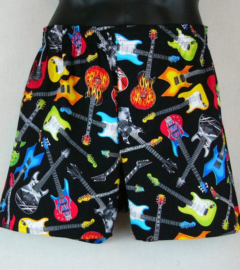 Electric GUITARS cotton boxers image 0