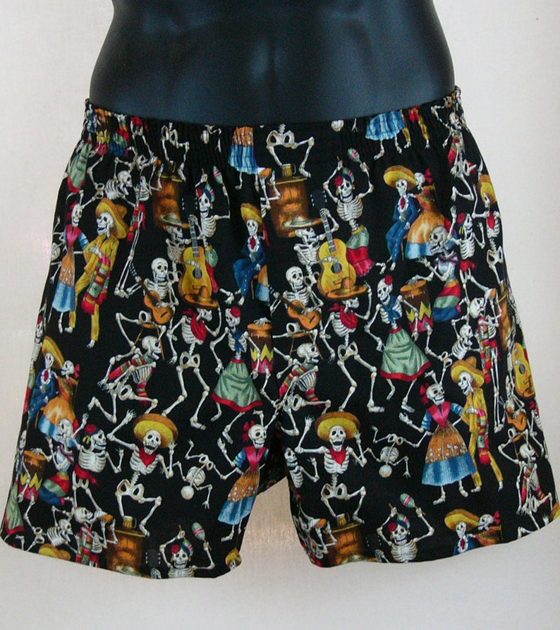 DAY of the DEAD cotton boxers  Dia de los Muertos image 0