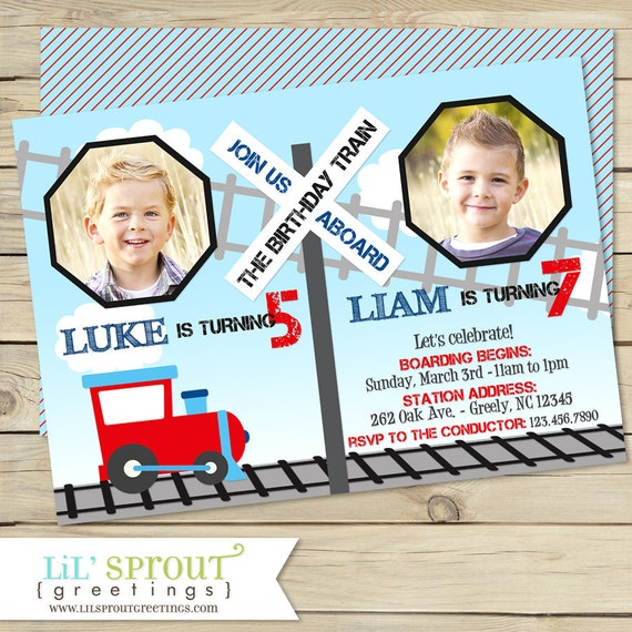 Train joint birthday invitation train dual birthday etsy image 0 filmwisefo