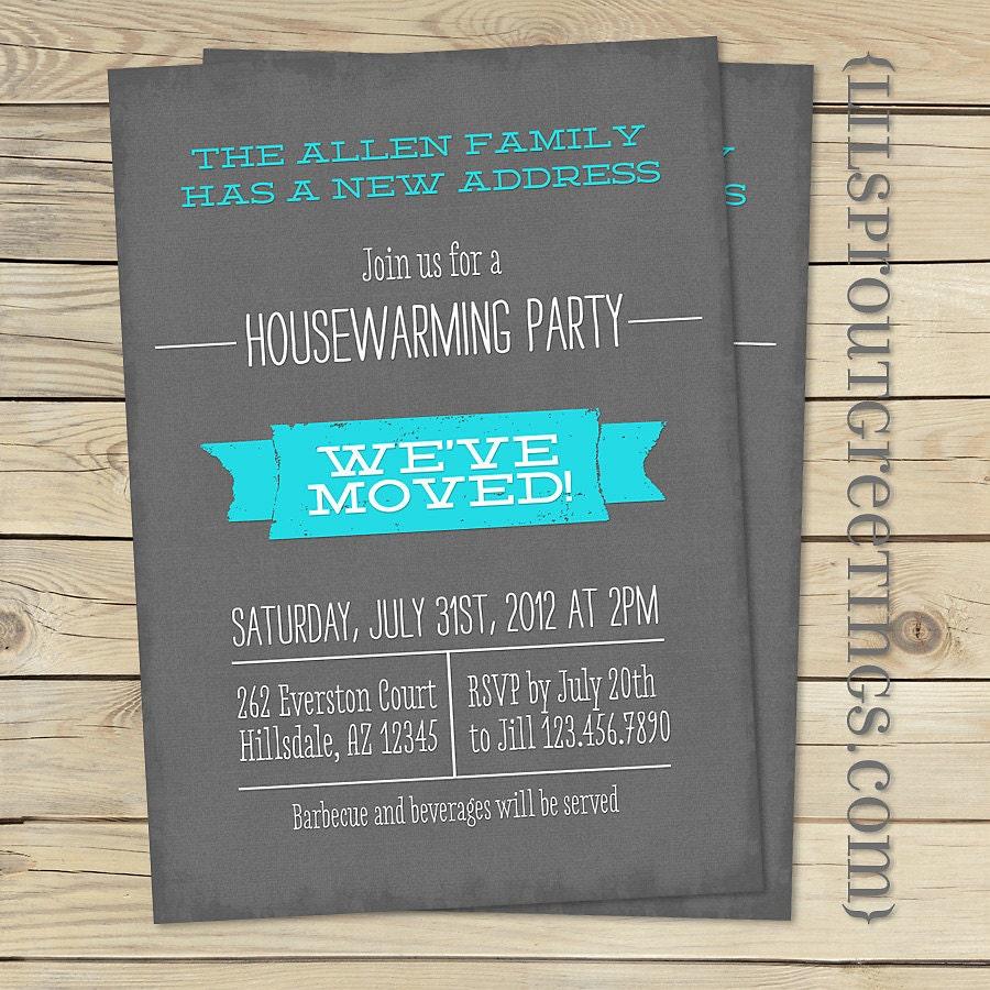 Housewarming Invitation Moving Announcement Printable | Etsy