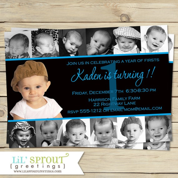 1st Birthday Boys Invitation