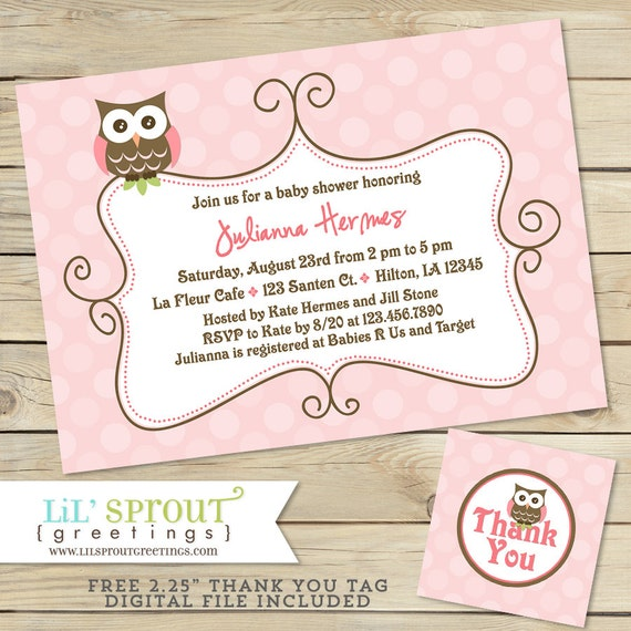 picture relating to Free Printable Owl Baby Shower Invitations referred to as Red Owl Child Shower Invitation - Owl Lady Kid Shower
