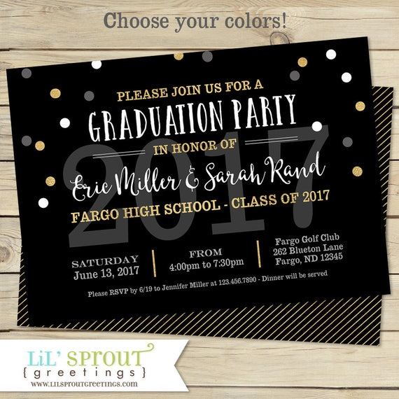 printable graduation invitation joint graduation party