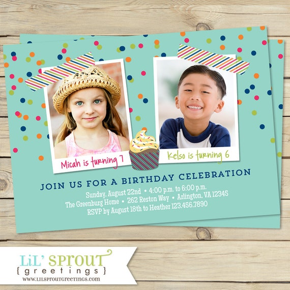 Combined birthday party invitations boy or girl options etsy image 0 filmwisefo