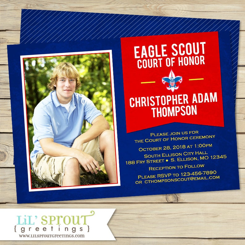 Court Of Honor Eagle Scout Invitation