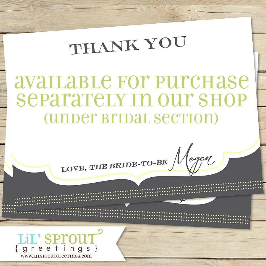 Coordinating Bridal Shower Recipe Card Printable Print Your Own