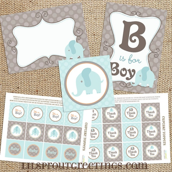 Blue Elephant Baby Shower Printable Decorations Instant Download Baby Boy Aqua Light Blue Diy Signs Tags Toppers Banner Labels By Lil Sprout Greetings Catch My Party,Tiny Houses Wisconsin Dells