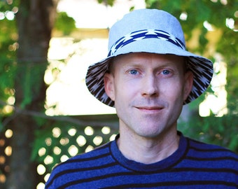 Teen, Men and Women Sun Hat Pattern - heads 20.5 to 24.5 inches - digital downloadable Bucket Hat sewing pattern