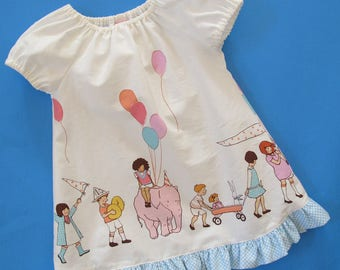 Easy Baby Dress Pattern - Peasant Dress Pattern PDF - Baby and Toddler - Beginner
