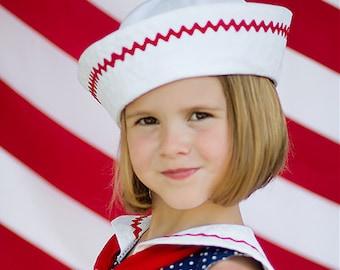 8d35743255e Sailor Hat Pattern - PDF sewing pattern - boys girls baby sailor hat  pattern newborn to 8