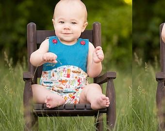 Baby Boy Sewing Pattern - Baby Boy Romper Pattern, Sewing pattern for baby boy and girl, long and short romper sewing pattern for baby boy