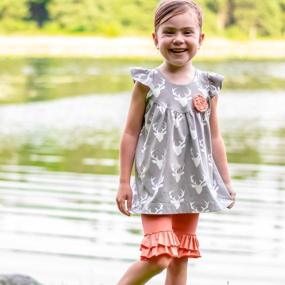 Girls Knit Fabric Dress Pattern Tunic And Dress Length Etsy