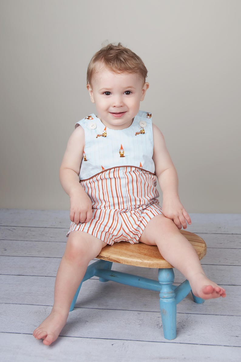 9b9279ce75d4 Baby Boy Romper Pattern Baby Boy or Girl Romper Sewing