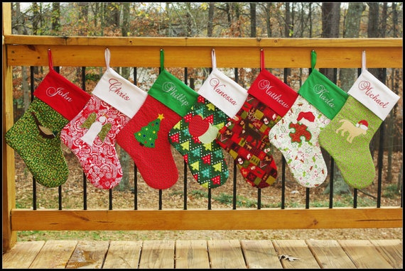 Christmas Stocking Sewing Patterns Elf And Traditional Etsy