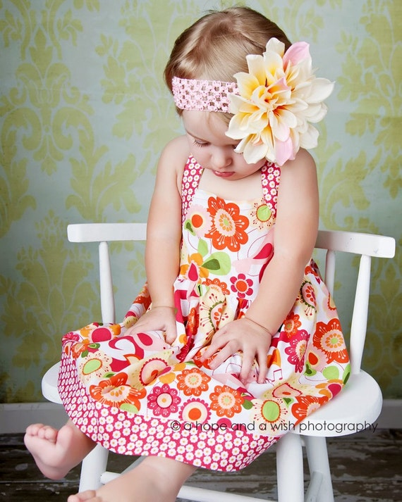 Items similar to Halter Dress Pattern - Sweet Summer Halter Dress for Baby 0-24 months PDF on Etsy