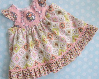 Baby Sewing Pattern with Flutter Sleeve - Baby Butterfly Top Dress PDF Sewing pattern