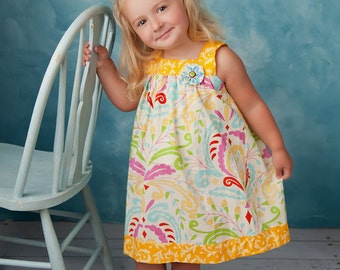 Square Neckline Dress and Top pattern, sewing pattern for girls