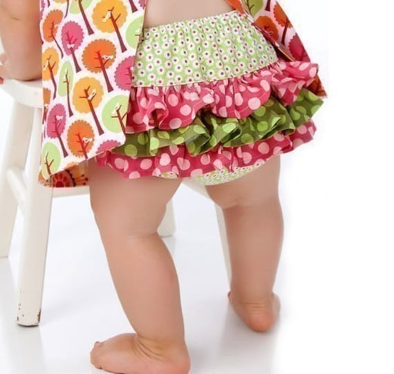 Fancy Ruffled Diaper Cover Sewing Pattern Ruffle Back Bloomers For Baby And Toddler Newborn 0 3 6 12 18 24 Months