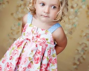 Girls Handkerchief Hem Sun Dress or Pinafore Pattern - Instant Download PDF Digital Sewing Pattern