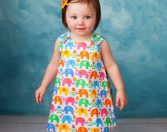 The Perfect A Line Dress pattern - Baby and Toddler 0 to 24 months - Reversible - Digital Sewing Pattern Download