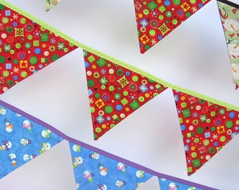SALE -- Cherry-Red Christmas Bunting