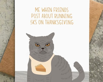 funny thanksgiving card / angry cat / 5ks