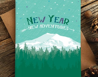 new year card set / new adventures / boxed set of 8