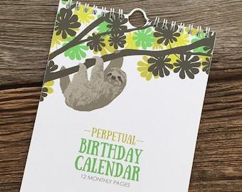 Perpetual Calendar / Birthday Calendar
