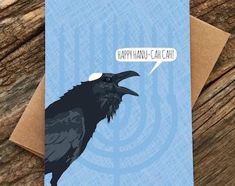 funny hanukkah card set / raven / boxed set of 8