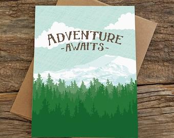 graduation card / adventure awaits