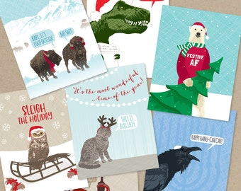 christmas cards boxed set / assorted cards / make your own boxed set of 8