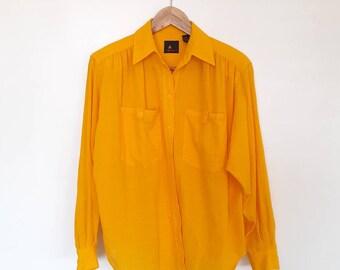 Liz Sport Saffron Yellow Vintage Beach Coverup Top
