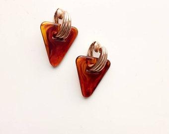 Triangle Clip On Earrings