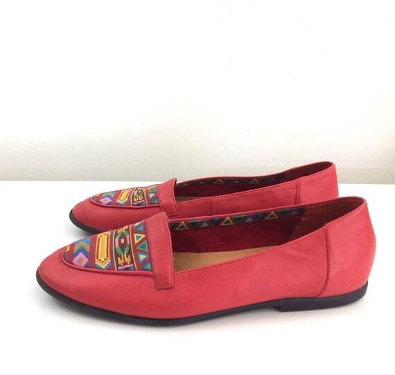 les cuir sud Glissement multicolore rouge plaines sur vintage au en ouest Design qnCwUv0