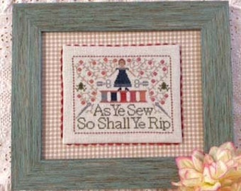Counted Cross Stitch Chart The Frog Motto Hard Copy Sewing Motto Stitching Frogging Vintage Spools Vines