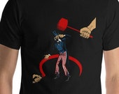 Anti-Imperialist T-Shirt: The Defeat of Imperialism | Retro Communist Anti-Capitalist Shirt, Hammer & Sickle American Communism, Leftist