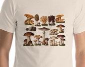 Mushroom T-Shirt: Edible Fungi & Mushrooms | Edwardian Botanical Illustration | Unisex Shirt, Fungus, Mushroom, Retro Mushroom Gift