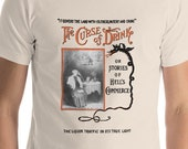 Alcohol T-shirt: The Curse of Drink | Edwardian Temperance, Prohibition, Booze, Drinking, Bar Unisex Shirt, Bartender Gift