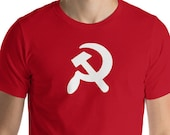 Unisex | Hammer and Sickle T-Shirt |  Communist, Communism Proletarian Leftist Anti-Capitalist Pro-Worker