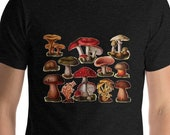 Unisex | Poisonous Fungi & Mushrooms | Edwardian Botanical Illustration | Unisex T-Shirt