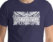 Socialist T-Shirt: The Socialist League | Agitate, Educate, Organize! Socialist Gift, Unisex Socialism Shirt, Leftist, Anti-Capitalist