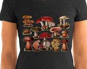 Mushroom T-Shirt: Poisonous Fungi & Mushrooms | Edwardian Botanical Illustration | Ladies Shirt, Fungus, Mushroom, Retro Mushroom Gift