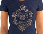 Floral T-Shirt: Alpine Flowers | Ornate Victorian Design Botanical Ladies Floral Shirt, Gardener Gift