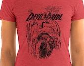 Satanic Shirt, The Devil's Bride | Edwardian Sensationalism Ladies T-Shirt, Devil, Demon, Book Cover Gift