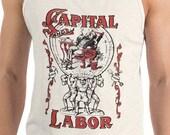 Tank | Capital and Labor | Edwardian Socialism Unisex Tank, Socialist, Communist, Communism, Leftist, Progressive